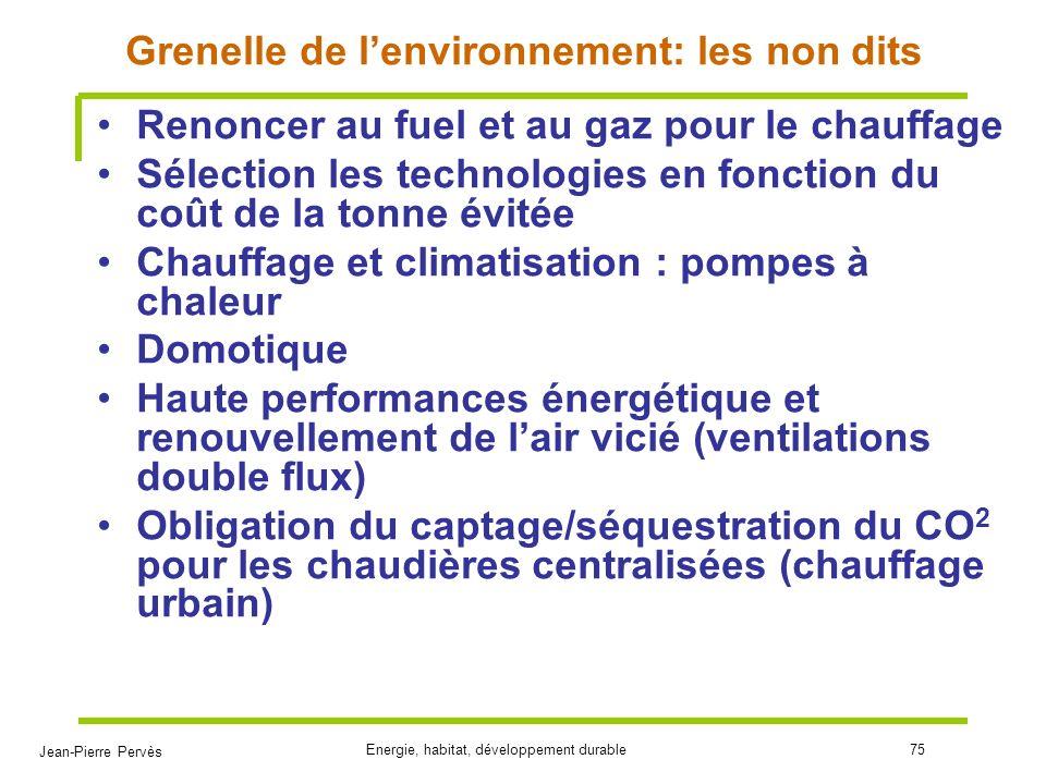 Grenelle de l'environnement: les non dits