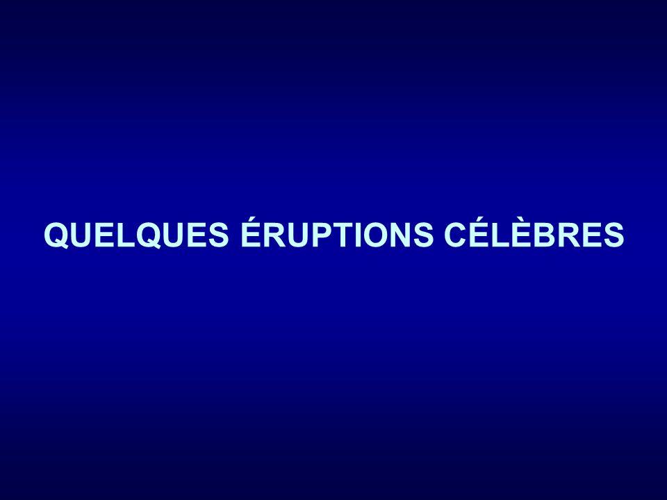 QUELQUES ÉRUPTIONS CÉLÈBRES