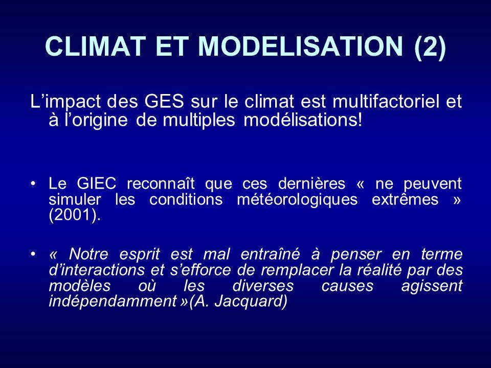 CLIMAT ET MODELISATION (2)