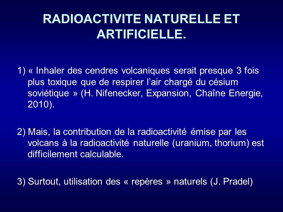 RADIOACTIVITE NATURELLE ET ARTIFICIELLE.