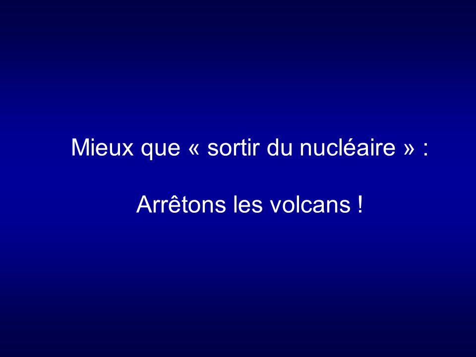 Mieux que « sortir du nucléaire » : Arrêtons les volcans !