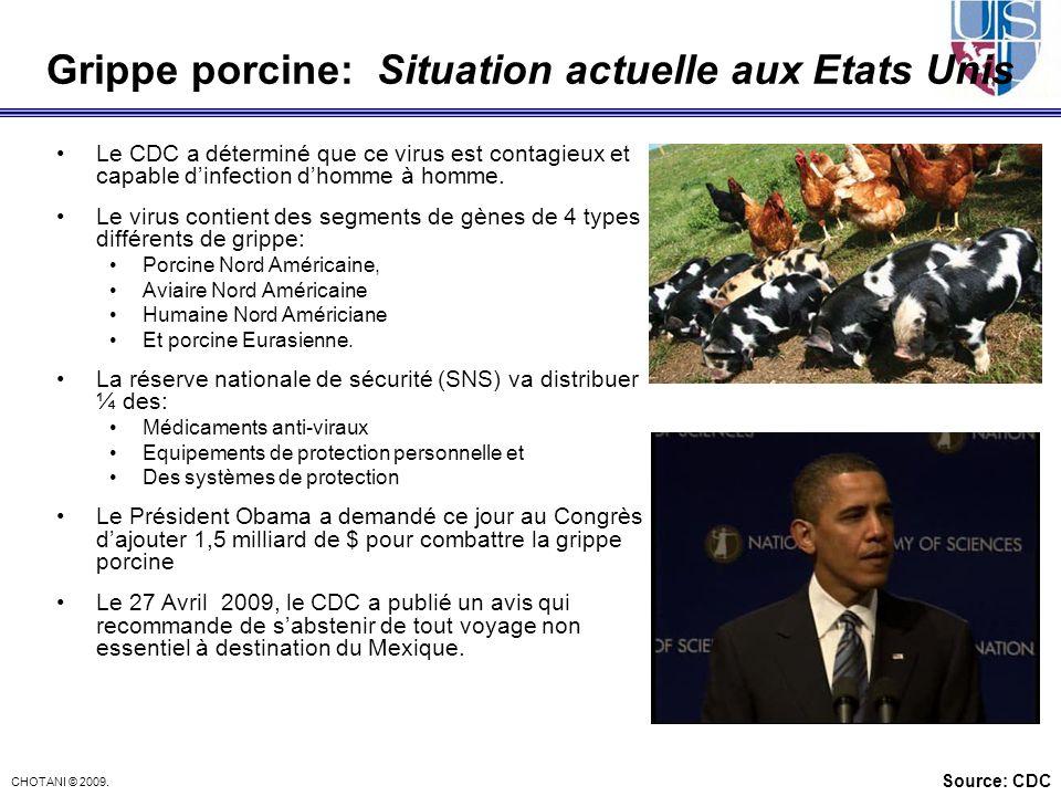Grippe porcine: Situation actuelle aux Etats Unis