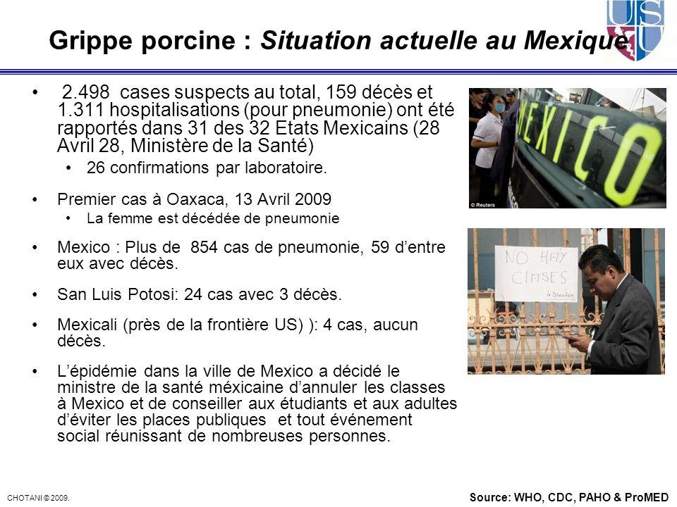 Grippe porcine : Situation actuelle au Mexique