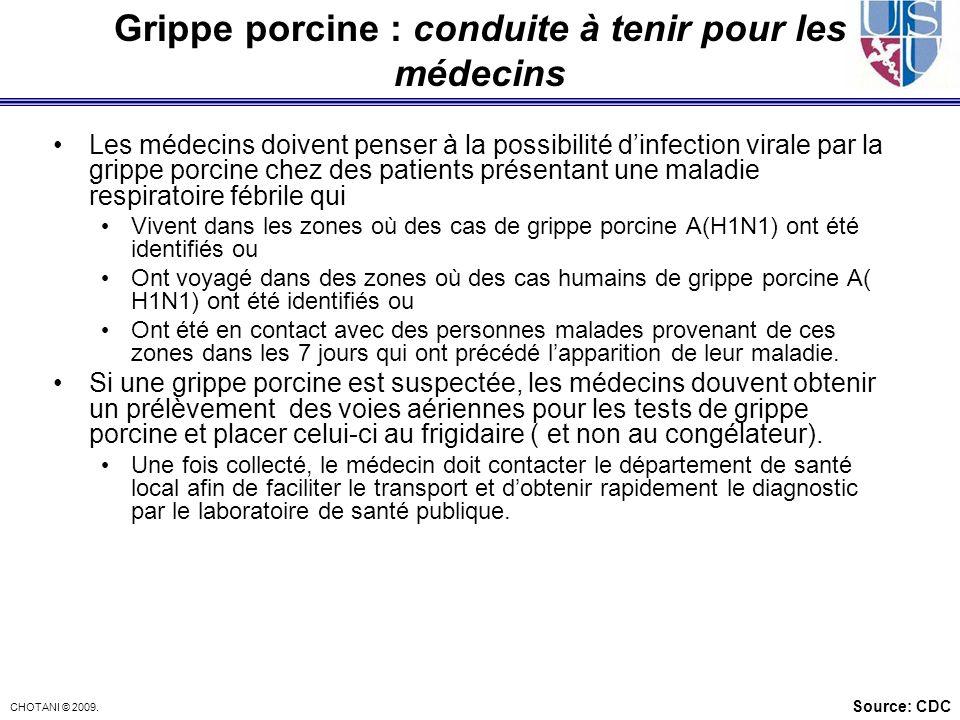 Grippe porcine : conduite à tenir pour les médecins