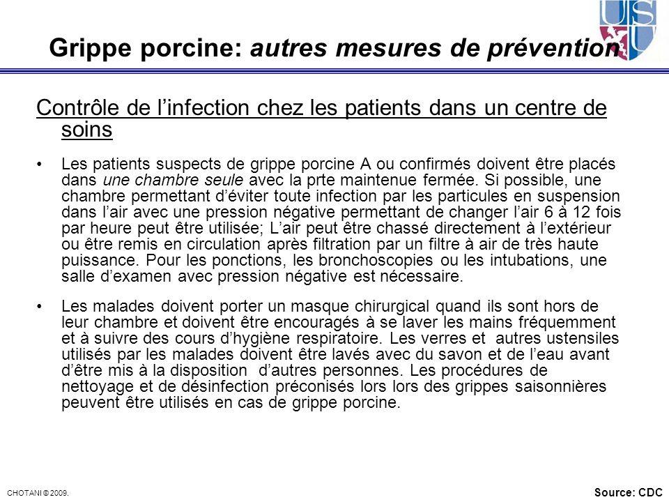 Grippe porcine: autres mesures de prévention