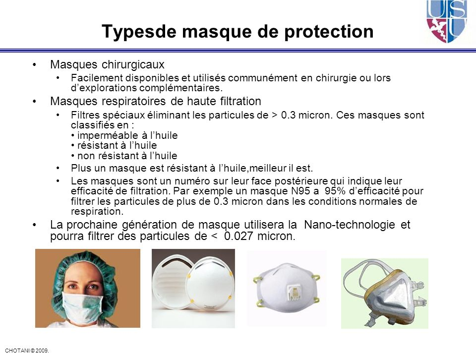 Typesde masque de protection
