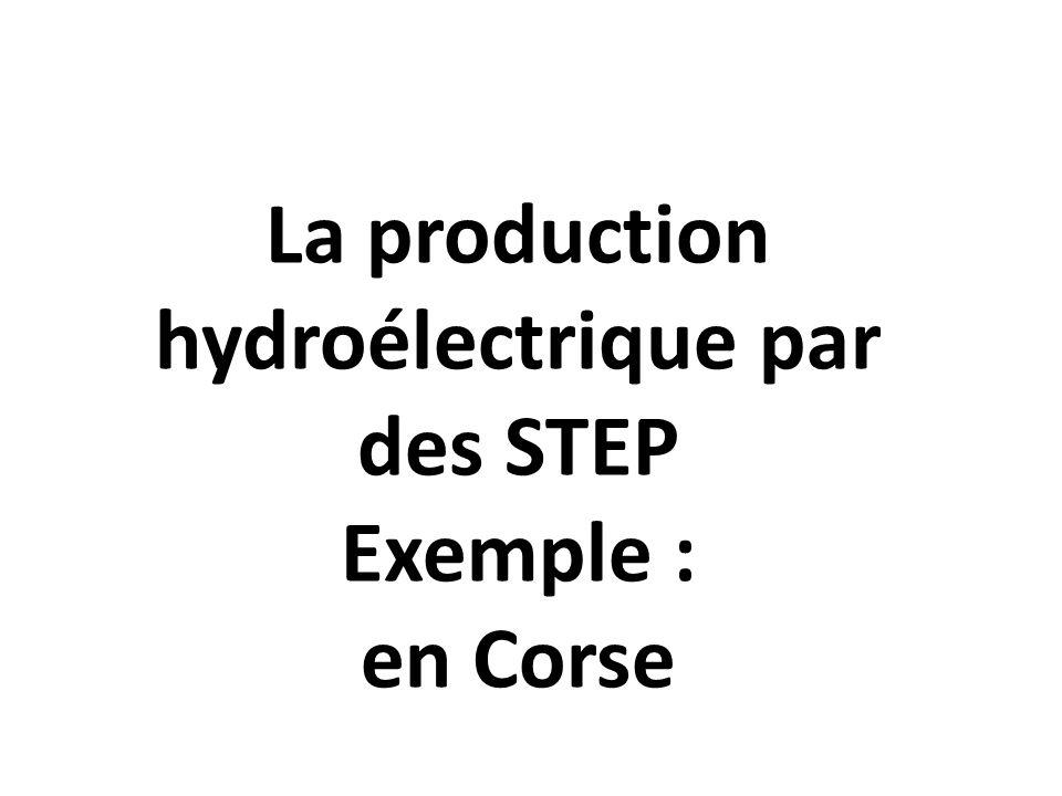 La production hydroélectrique par des STEP