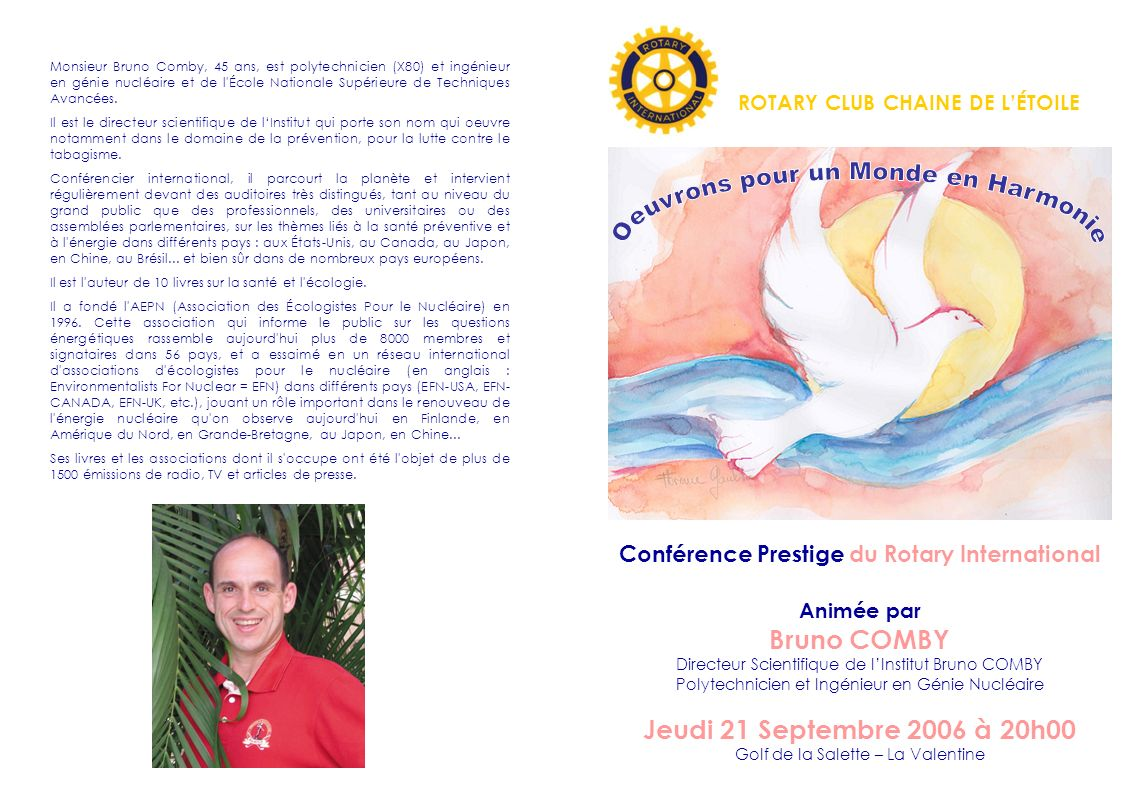 Conférence Prestige du Rotary International
