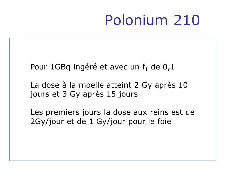 Polonium 210 Pour 1GBq ingéré et avec un f1 de 0,1