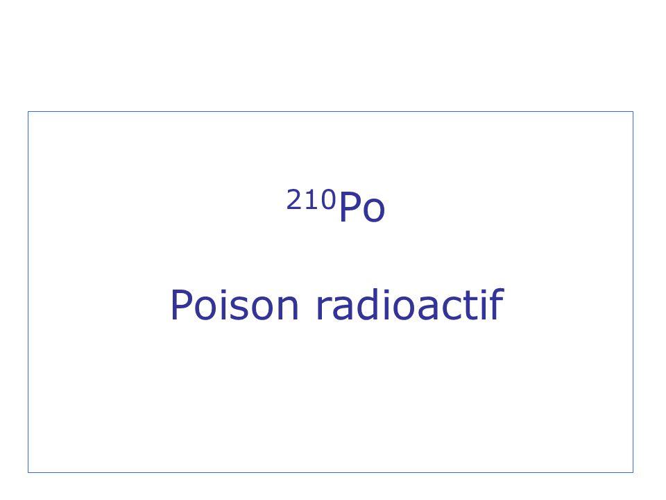 210Po Poison radioactif