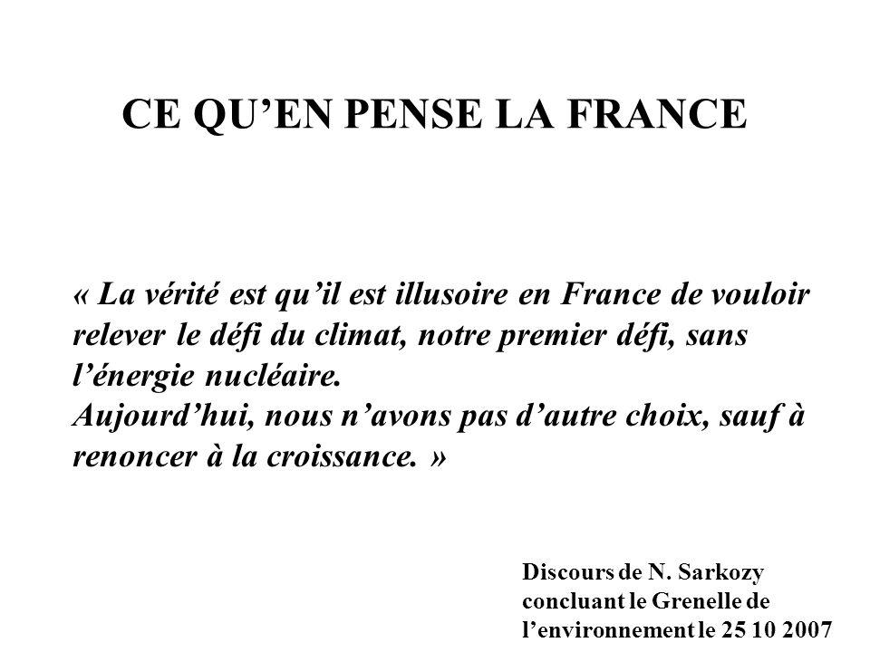 CE QU'EN PENSE LA FRANCE
