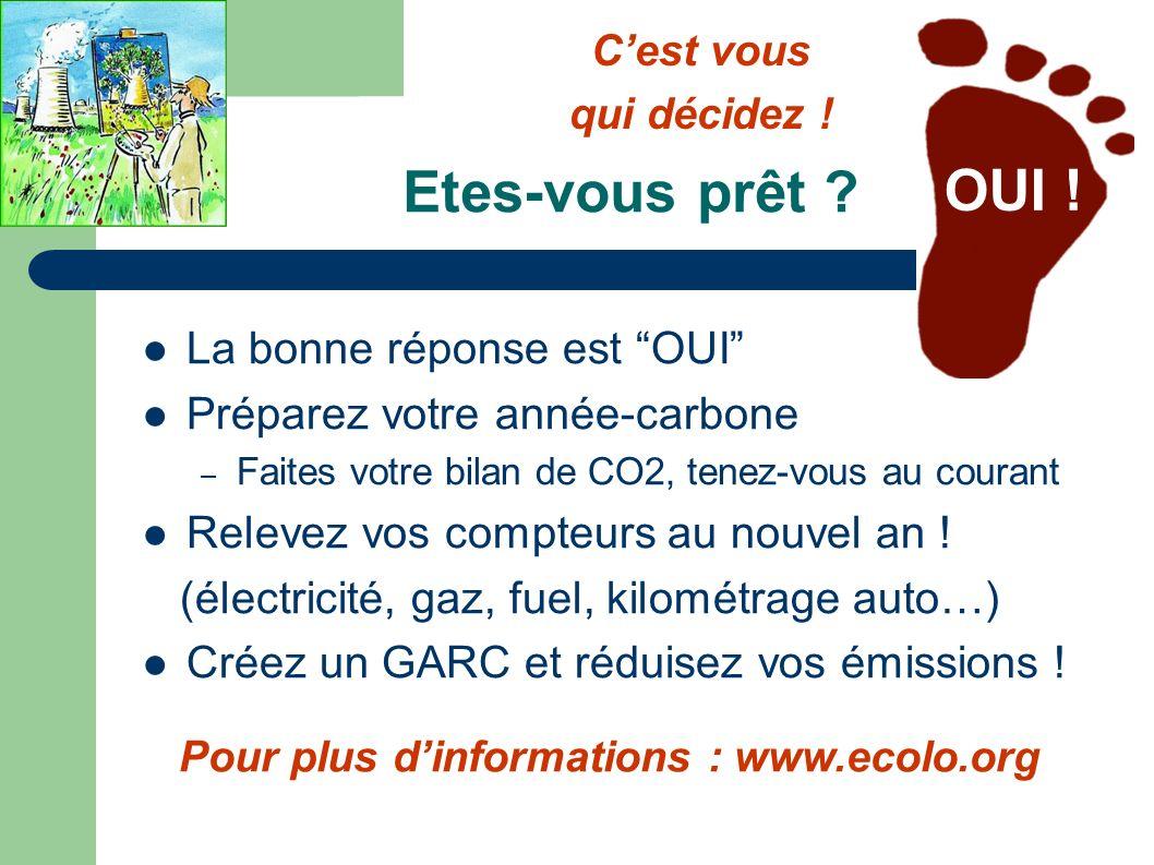 Pour plus d'informations : www.ecolo.org