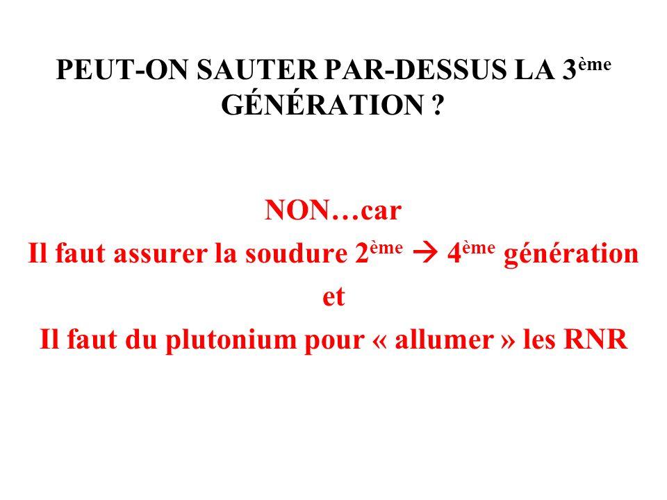 PEUT-ON SAUTER PAR-DESSUS LA 3ème GÉNÉRATION