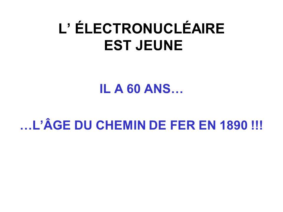 L' ÉLECTRONUCLÉAIRE EST JEUNE