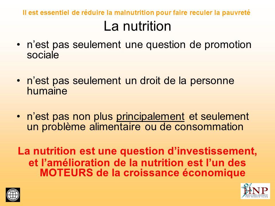 La nutrition est une question d'investissement,