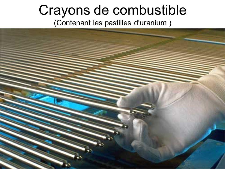 Crayons de combustible (Contenant les pastilles d'uranium )