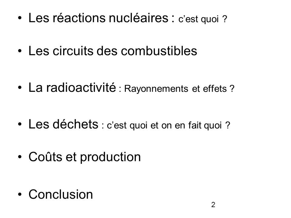 Les réactions nucléaires : c'est quoi