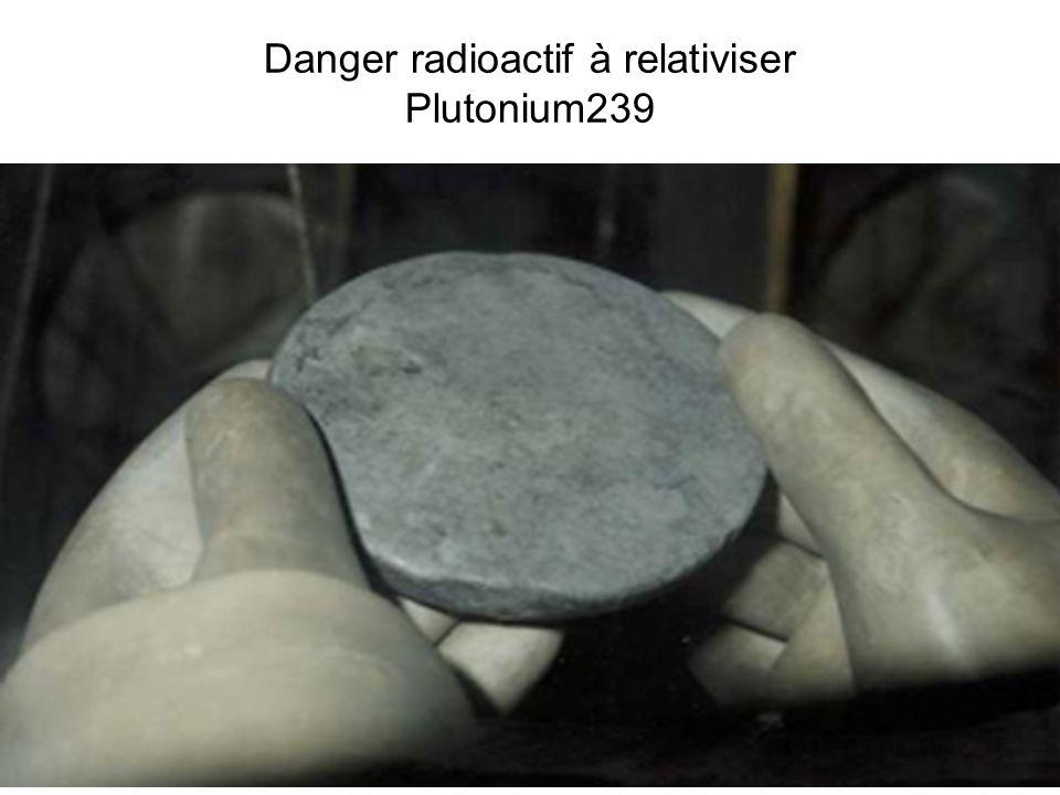Danger radioactif à relativiser Plutonium239
