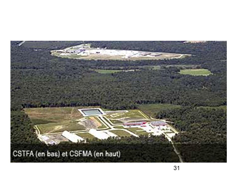 L Andra exploite dans l Aube deux centres de stockage en surface pour les déchets de faible et moyenne activité à vie courte (CSFMA) et de très faible activité (CSTFA).