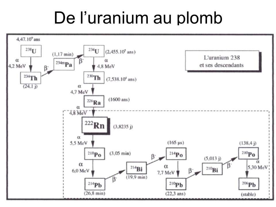 De l'uranium au plomb