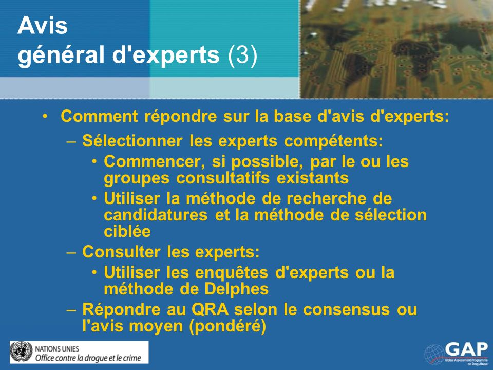 Avis général d experts (3)