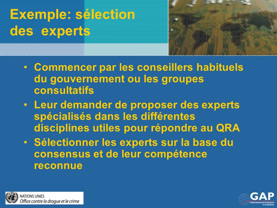 Exemple: sélection des experts