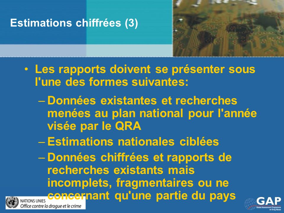 Estimations chiffrées (3)
