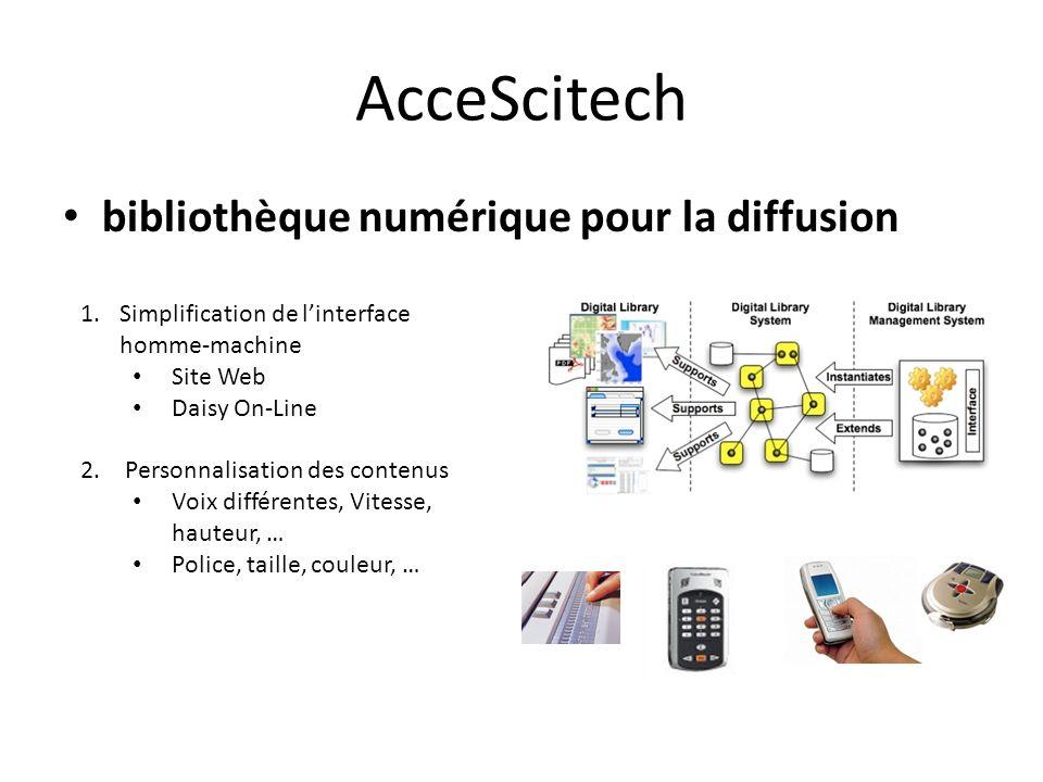 AcceScitech bibliothèque numérique pour la diffusion