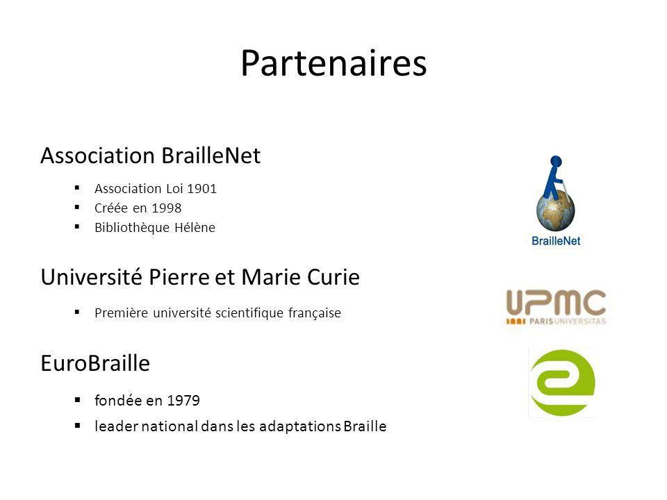 Partenaires Association BrailleNet Université Pierre et Marie Curie