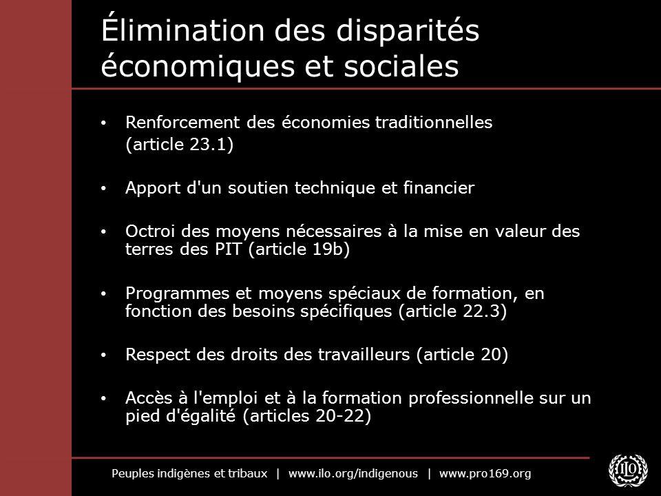 Élimination des disparités économiques et sociales