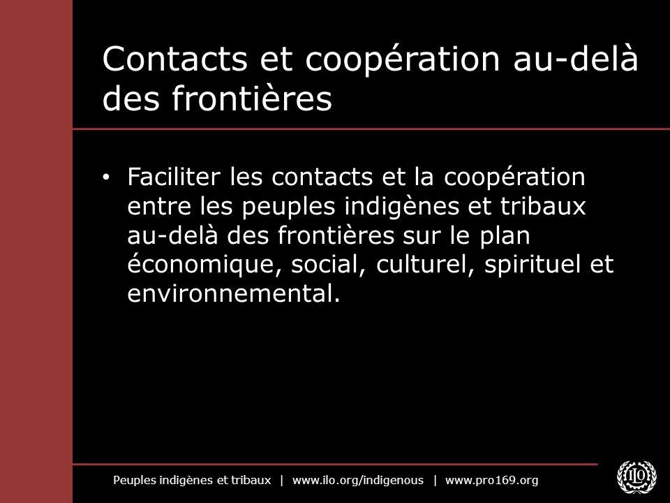Contacts et coopération au-delà des frontières