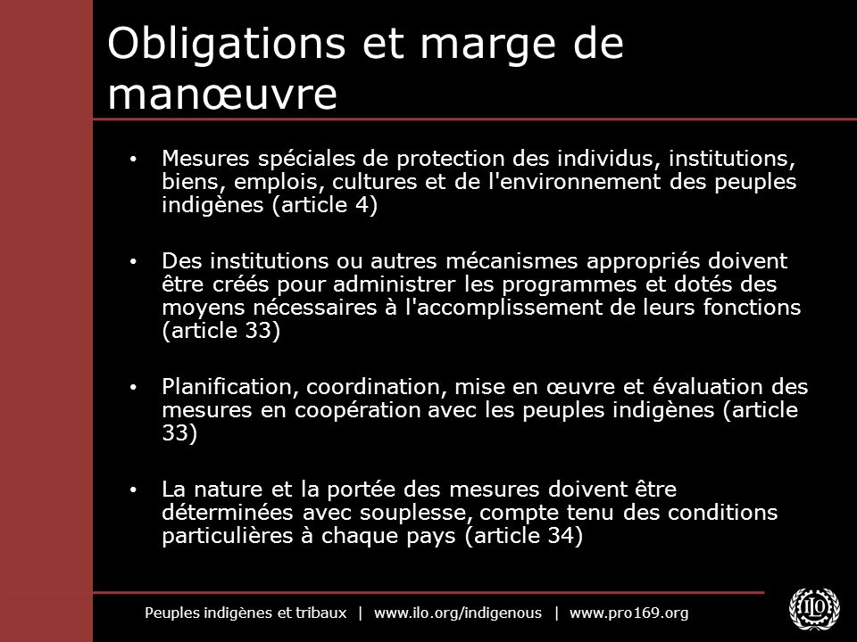 Obligations et marge de manœuvre