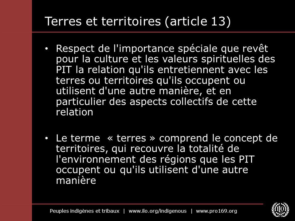 Terres et territoires (article 13)