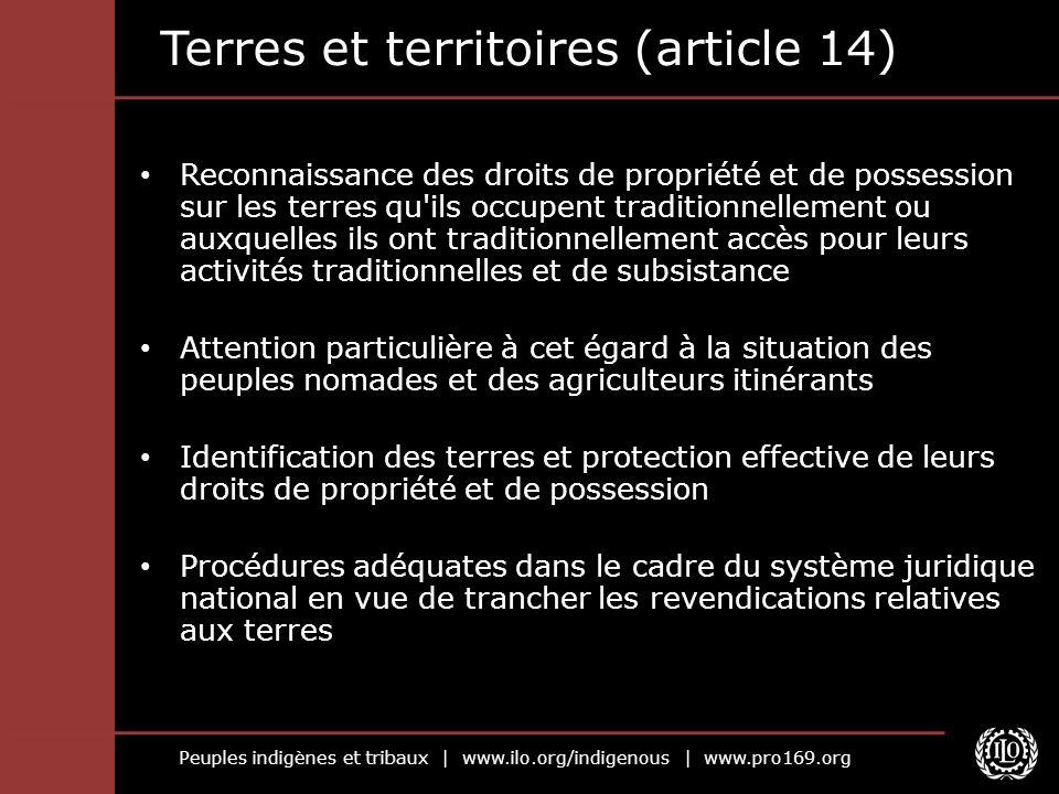 Terres et territoires (article 14)