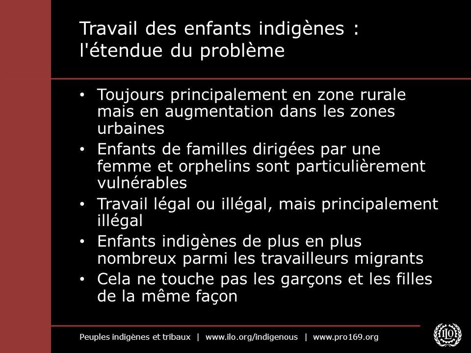 Travail des enfants indigènes : l étendue du problème