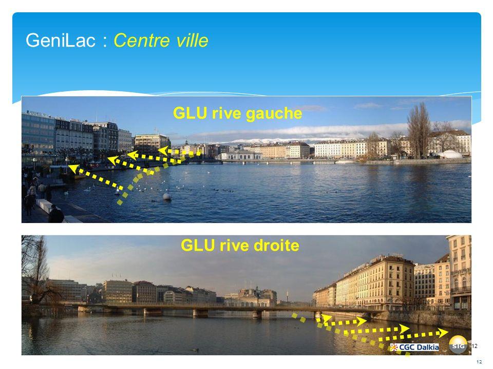 GeniLac : Centre ville GLU rive gauche GLU rive droite 12