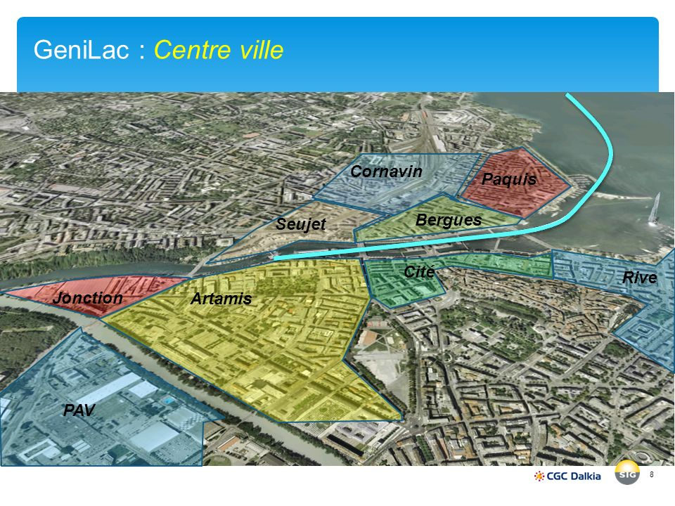 GeniLac : Centre ville Cornavin Paquis Bergues Seujet Cité Rive