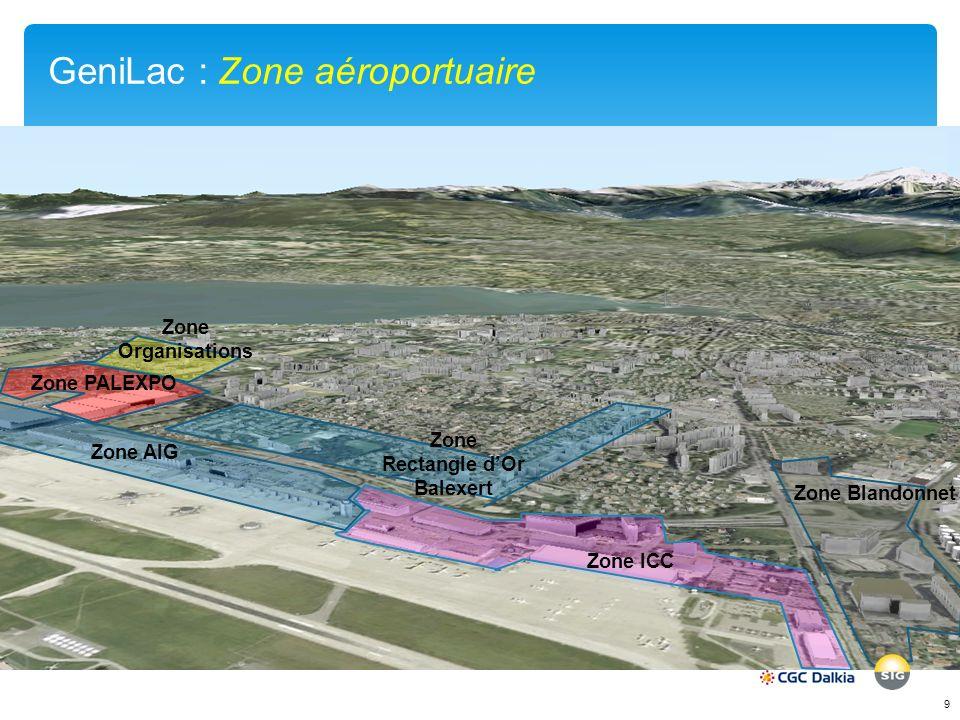 GeniLac : Zone aéroportuaire
