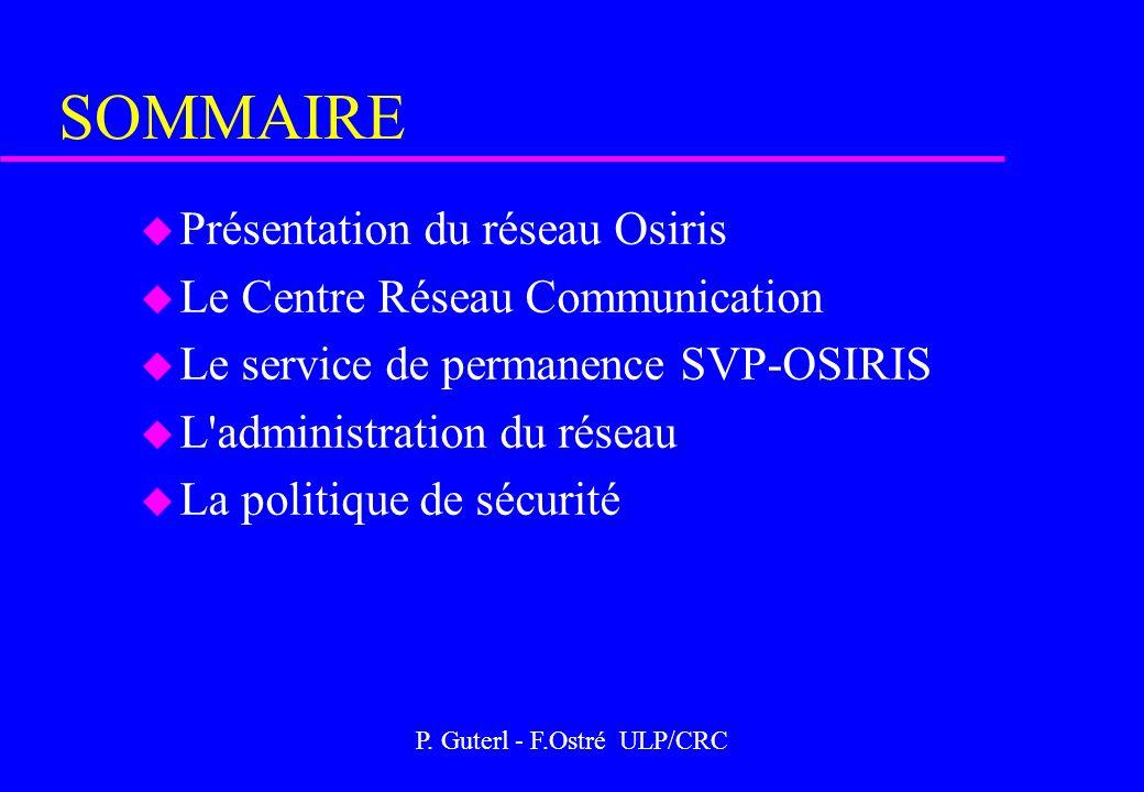 P. Guterl - F.Ostré ULP/CRC