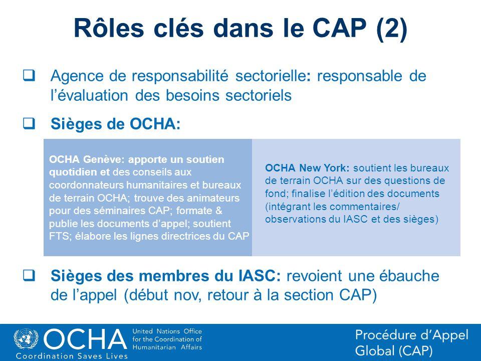 Rôles clés dans le CAP (2)