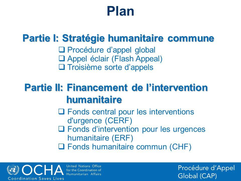 Plan Partie I: Stratégie humanitaire commune