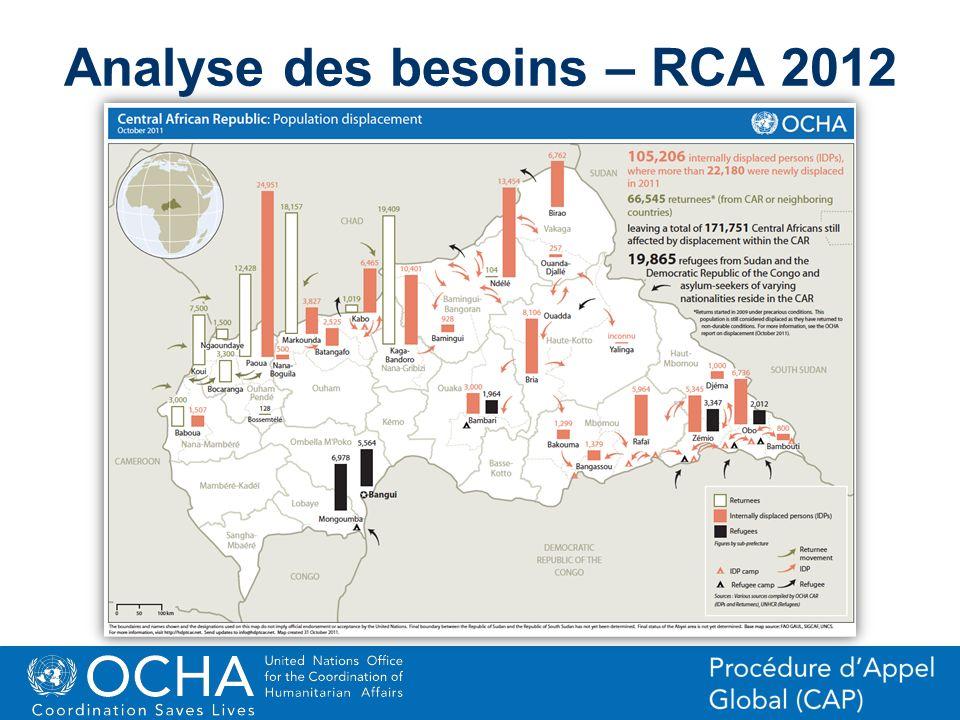 Analyse des besoins – RCA 2012