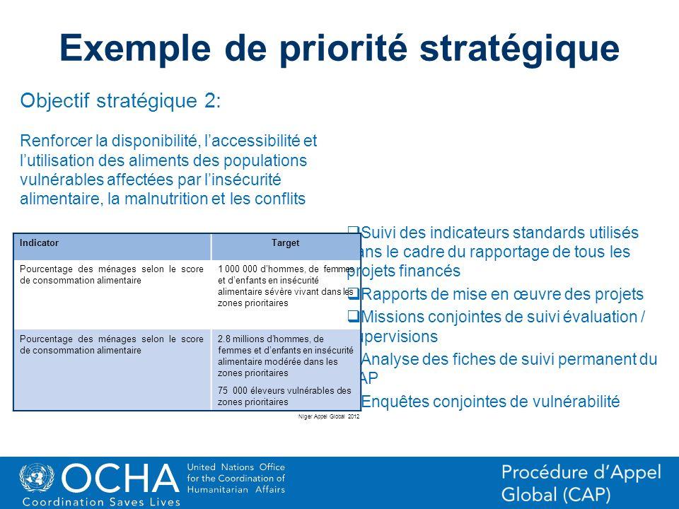 Exemple de priorité stratégique
