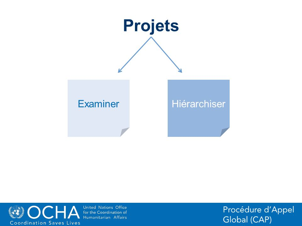 Projets Examiner Hiérarchiser