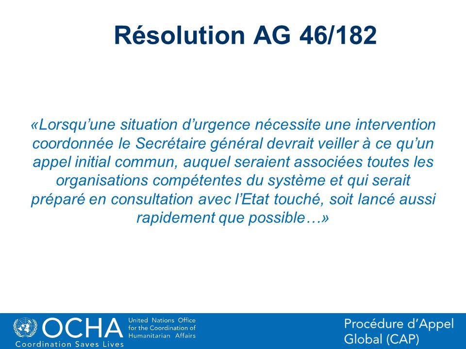 Résolution AG 46/182