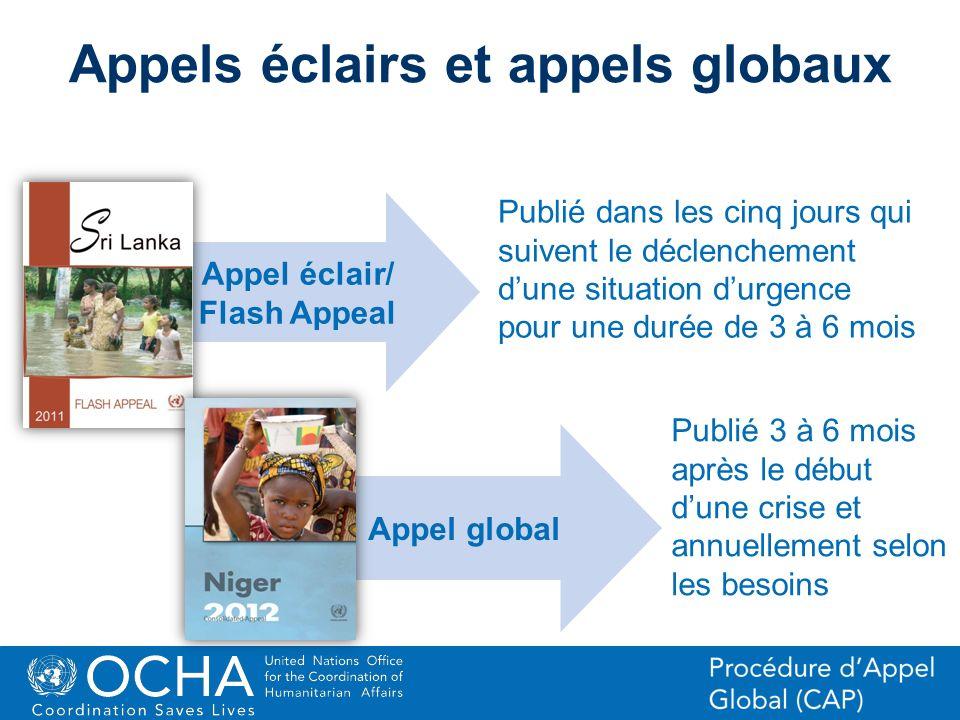 Appels éclairs et appels globaux