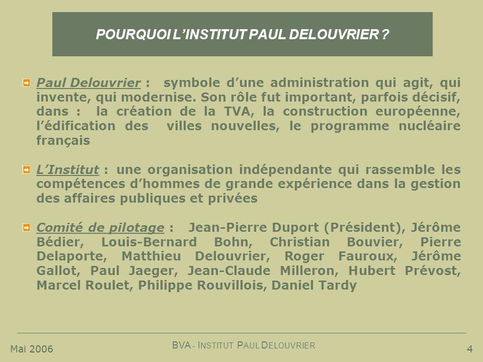 POURQUOI L'INSTITUT PAUL DELOUVRIER