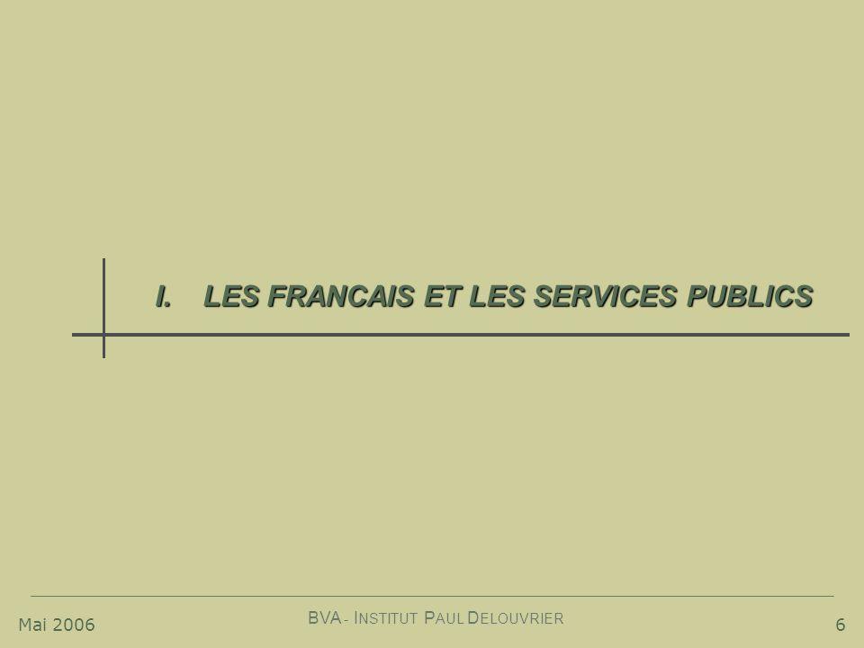 LES FRANCAIS ET LES SERVICES PUBLICS