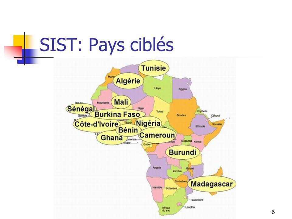 SIST: Pays ciblés FDS - A.T.