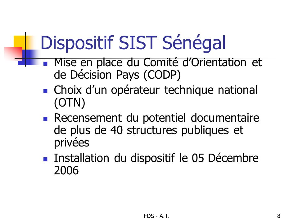 Dispositif SIST Sénégal